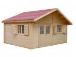 Abri Madriers bois massif avec double rainurage / 42 mm / 15,73 m²