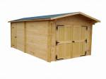 Garage Madriers bois massif double rainurage / 42 mm / 24,23 m²