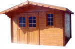 Abri Madriers bois massif / 28 mm / 13,21 m²