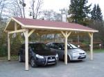 Carport double pente avec couverture bardeau bitumé en rouleau / 3,90 x 5,86 m