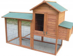 Poulailler bi-corps grande taille / 2,13 m2 / 5-8 poules / double toit bitumé