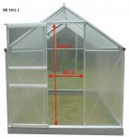 Serre jardin structure aluminium / polycarbonate 4 mm / 2,39 m²