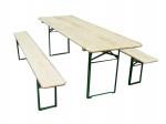 Set brasserie COLOGNE comprenant 1 table 220 x 80 cm + 2 bancs 8 personnes