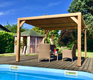 Pergola en bois 3,41x3,13 m - 10,67 m²