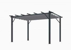Pergola 100 % aluminium 12 m² - coloris gris