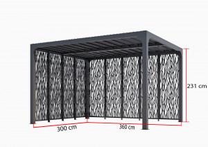 Pergola bioclimatique ALUMINIUM - 10,80 m2