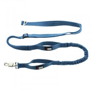 Laisse de traction «Canicross» I-DOG Bleu/Gris